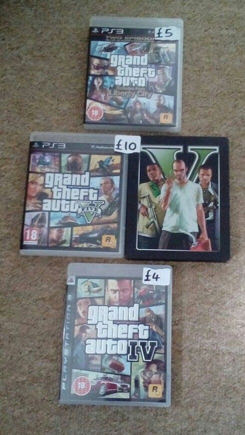 Gta ps3 game bundle of three games complete with poster
