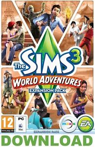 The Sims 3 World Adventures PC Mac - ORIGIN DOWNLOAD KEY (No DVD or Postage)
