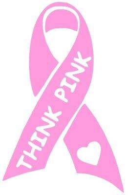 2 Breast Cancer Awareness Ribbon Sticker | Pink Car Window Vinyl Decal 5x3