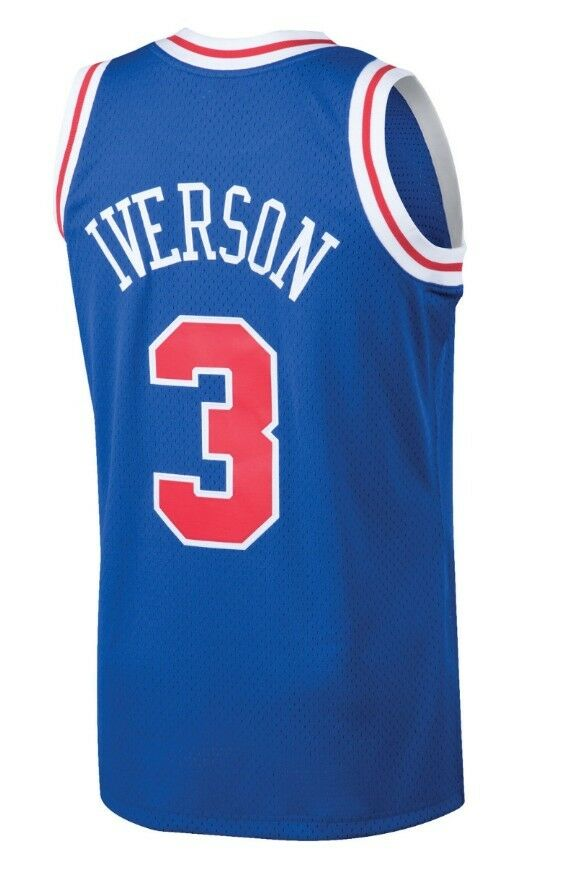 e1b446b3e30 Allen Iverson  3 Philadelphia 76ers Mitchell   Ness Mesh Throwback Jersey  Royal. GUARANTEED AUTHENTIC BRAND NEW WITH TAGS.