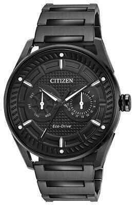 Citizen Eco-Drive Men's CTO Black Dial Bracelet 42mm Watch  BU4025-59E Citizen Watches Day Date Bracelets