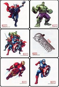 12 x MARVEL HEROES AVENGERS Party Pack childrens Temporary Tattoos New styles