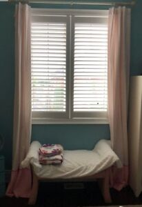 Girls Pottery Barn curtains