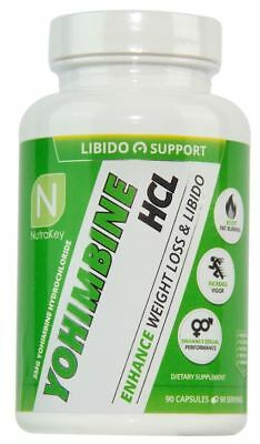 Nutrakey Yohimbine HCL 3mg, 90 capsules WEIGHT LOSS, (Hcl 90 Capsules)