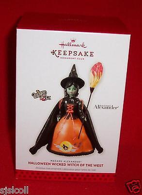 Hallmark 2013 Madame Alexander Wicked Witch Of The West Oz Halloween Ornament