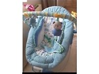 Mothercare baby blue bouncer