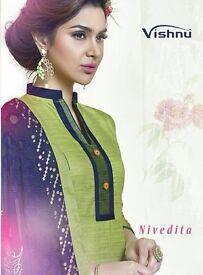 VISHNU NIVEDITA WHOLESALE BANARASI SILK DRESS