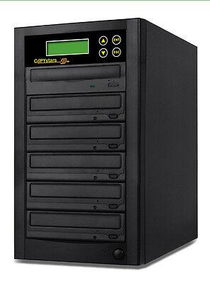 Copystars Cd Dvd Duplicator 1- 5 Burner Copier Tower + Free Cyberlink Software