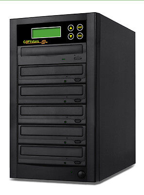 Copystars Cd Dvd Duplicator 1- 5 Burner Copier Tower + Free Cyberlink Software