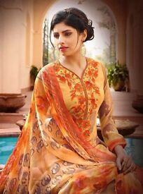 wholesale elegance designer georgette suit at best rate