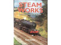 RAILWAY BOOK. STEAM WORKS BY DEREK HUNTRISS FOR SALE
