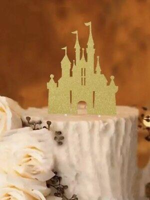 Gold Disney Castle Happy Birthday Cake Topper Princess Castle ()