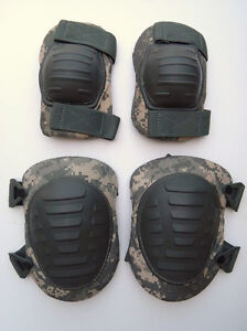 US-Military-Issue-McGuire-Nicholas-Digital-ACU-Camo-Knee-Elbow-Pads-Pad-Set-New