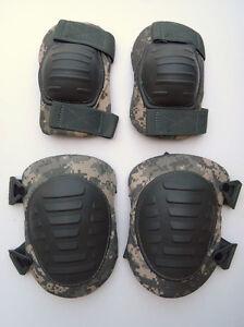 US-Military-Issue-McGuire-Nicholas-Digital-ACU-Camo-Knee-Elbow-Pads-Pad-Set-New