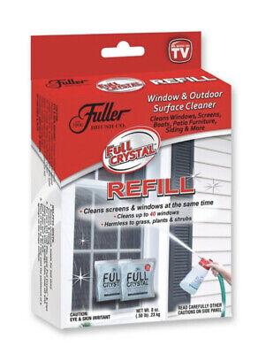 2 Full Crystal Refill Packets Fuller Brush Window Surface Cleaner Powder New