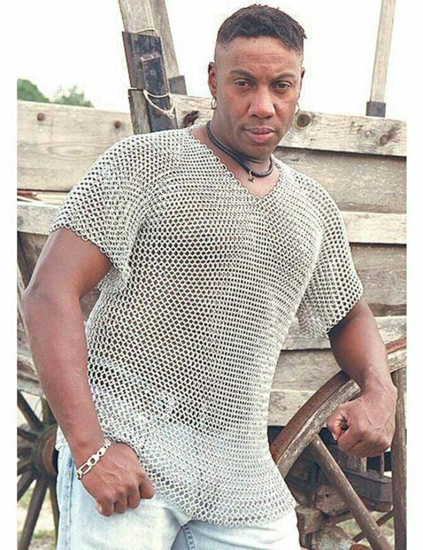 """Medieval Aluminium Chainmail Butted Ring Chain Mail Short Sleeve 60"""" Chest"""