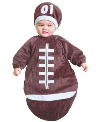 NWT - Baby Plush Brown Football 2-pc Bunting - Halloween Game Day Costume 0-6 mo