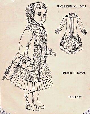 "18""ANTIQUE FRENCH BRU DOLL@1880's BUSTLE DRESS PATTERN/JUMEAU-GERMAN CHILD"
