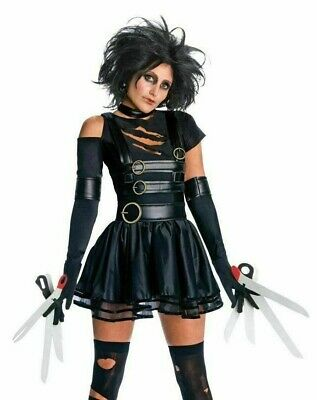 Miss Scissorhands Halloween Costume (RUBIES MISS SCISSOR HANDS BLACK WIG HALLOWEEN COSTUME DRESS UP SIZE S 2)