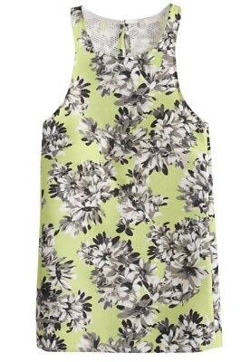 NWT JCREW $148 Collection Racer Tank In Photo Floral Size6 KIWI A6181 SOLDOUT