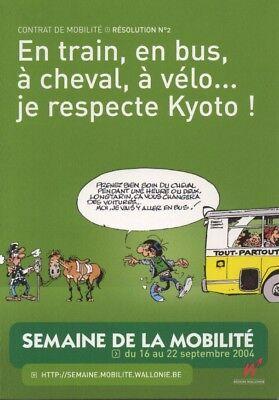 Carte postale Gaston Lagaffe Carte publicitaire, La semaine de la mobilité 2004