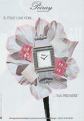 ▬► publicite advertising ad montre watch ma première poiray photo cuvillier 1999