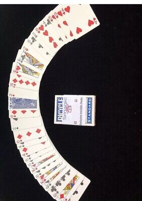 Invisible Deck Better Grip with Smoother Slip BLUE Bicycle Cards  Magic (Best Magic Card Deck)