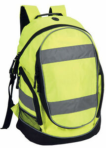 Shugon Hi Viz Yellow Rucksack Vis Backpack High Visibility Bag Cycling SH8001