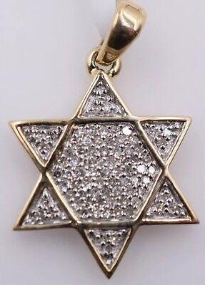 14K Yellow Gold & Diamond Star of David Pendant