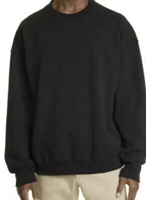 New $259 Noon Goons Solid Black Icon Heavy Cotton Sweatshirt XL