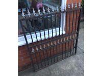 Decorative Solid Iron Garden Gates