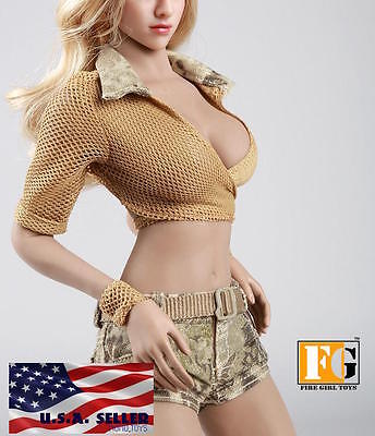 1 6 Summer Tactical Military Outfits Set 12  For Phicen Hot Toys Female Figure