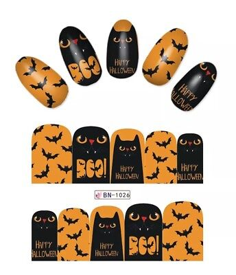 Halloween Nail Art Wraps water decals Nail Halloween Nail Decals - Nail Wraps Halloween