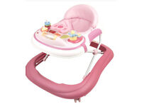New on tour pink musical baby walker