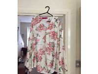 Boohoo on trend floral blouse