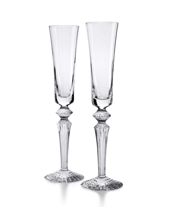 Baccarat 2 x crystal champagne flutes