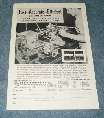Heavy Equipment Parts & Accessories South Bend Lathe Manual ...