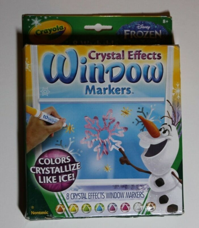 Crayola Washable Crystal Effects Window Markers 8 Count Colors Crystallize