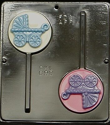 Baby Carriage Lollipop Chocolate Candy Mold Baby Shower  698 NEW Baby Shower Lollipop Molds