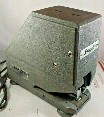 Vintage Staplex Heavy Duty Electric Power Stapler Staple Stapling Machine S-54