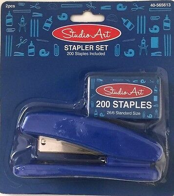 Stapler Set Home School Business 200 Staples Included. Blue