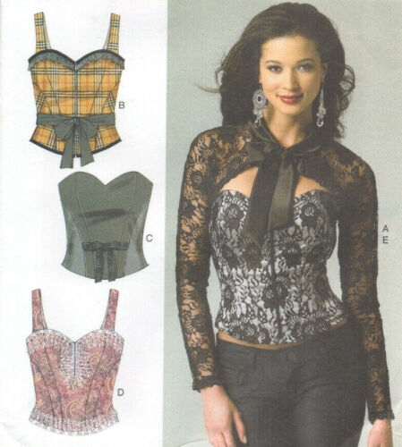 NEW Butterick 5797 Four Styles Corset Bustier and Shrug Pattern 14-22