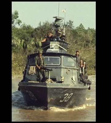 Vietnam War US Navy Assault Boat PHOTO On Patrol Saigon River 1968