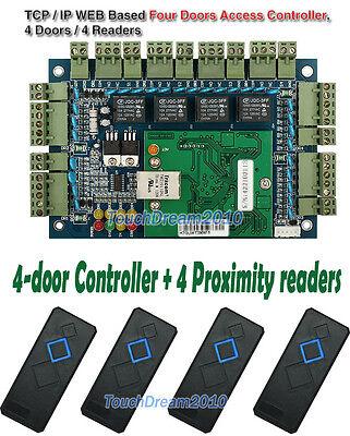 4 Doors Smart Access Control Board Access Control Panel4 Rfid Proximity Readers
