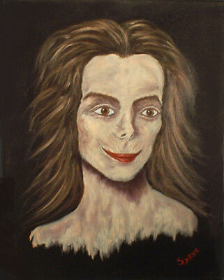 Haunted Looking oil Painting 16 x 20 signed by