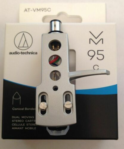 NEW AUDIO TECHNICA DUAL MOVING MAGNET PHONO CARTRIDGE MOUNTED ON HEADSHELL