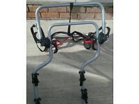 4x4 /camper van Halfords 2 bike rack to fit over spare wheel.VGC