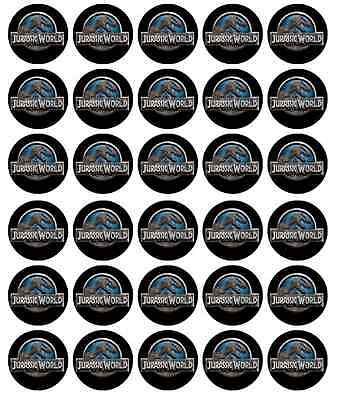 Jurassic World Park Cupcake Toppers Edible Wafer Paper BUY 2 GET 3RD FREE!