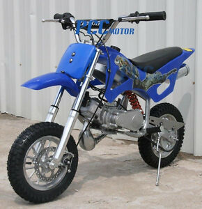 FREE-SHIPPING-49CC-2-STROKE-GAS-MOTOR-MINI-BIKE-DIRT-POCKET-BIKE-BLUE-V-DB49A