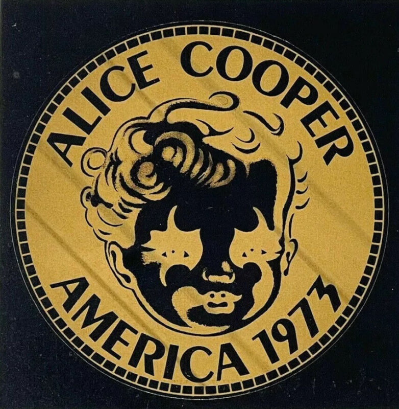 ALICE COOPER Billion Dollar Babies 1973 America Promo Tour Sticker Vintage RARE